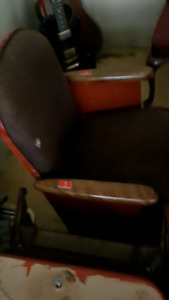 Authentic movie theater seats!