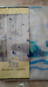 adorable whale shower curtain!