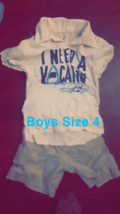 Boys Suze 4/5 summer clothing lot