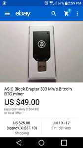 I have 3 red USB Bitcoin miners for sale