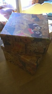 5.00 for 2 NEW Decorative Teddy Bear Boxes. Windsor Region Ontario image 2