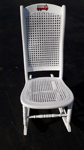 WHITE WICKER ROCKER  - $15