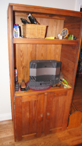 Solid Oak Hutch PRICED REDUCED