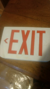 Exit sign - hardwired