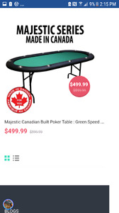 Poker table used 180