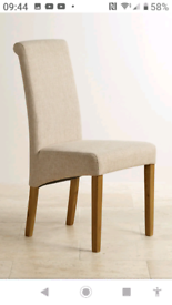 *REDUCED* 4x Dining Chairs (Oak Furniture Land). Perfect condition.