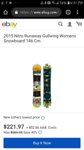 Nitro Snowboard with Ride bindings & Vans Boots