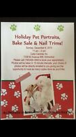 Santa photos with your pets and bake sale!