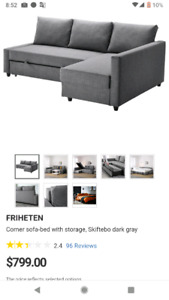FRIHETEN Sectional (sofabed) for Sale!