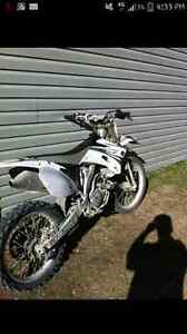Yamaha yz250f white special edition