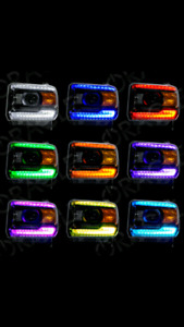2014-15 GMC Serria Oracle color shift drl lights and controller