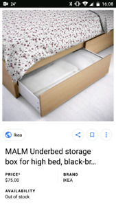 IKEA Underbed drawers MALM series