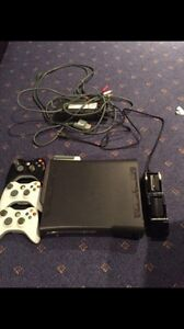 Xbox 360 3 controllers and battery packs with charger and games