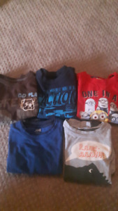3t boy long sleeve shirts and tshirts sweaters