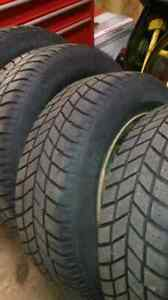 Set of 215/65/16. Winter tires on rims