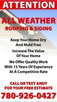 All Weather Renovations Roofing and Siding