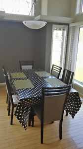 """Wengue Dinner table and 6 chairs,70,9""""x39,4""""x30,3"""""""