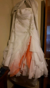 Wedding dress and Vail.