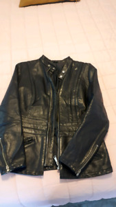 Vintage Ladies Leather Jacket Taurus by Drospo - size small/m