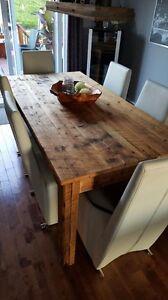 Table en vrai bois de grange centenaire