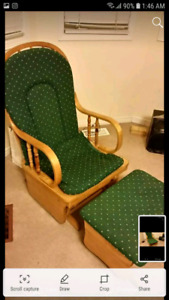 Rocking chair with Ottoman
