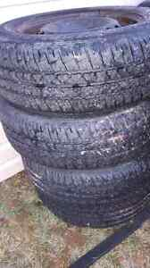 Like new all season tires on steels 195/65/15