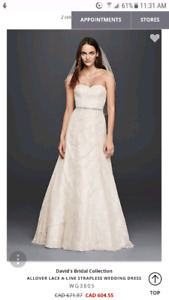Size 12 lace wedding dress