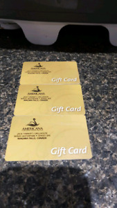 Americana Gift cards