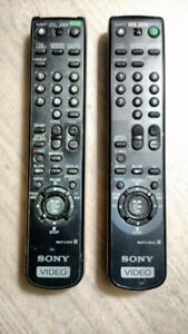 2 Sony TV Video remote controls -$3 for both!
