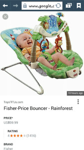 Fisher price bouncers rainforest (Sold)