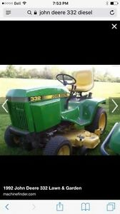 Wanted John Deere (Deer) Lawn Tractor or Kubota