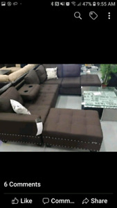Brown Sofa Sectional - BRAND NEW IN BOX