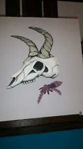 Skull painting by me