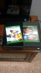 xbox one 500 gb with games and controller