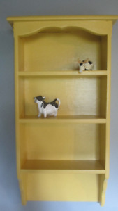 Yellow Curio Shelf