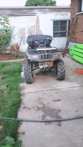 ATV WITH 4X4 WINCH PLOW 2UP SEAT AUTOMATIC RUN GREAT 1900KM