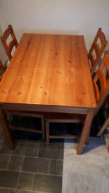 Ikea dining table with chairs. Free