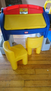 Little tikes desk and chairs