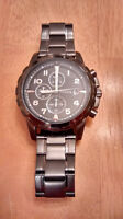 Fossil Smoke Stainless Steel Watch (Dean Chronograph) NEW!