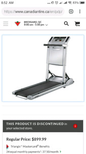 Fold-Away Treadmill  /Tapis roulant rabattable