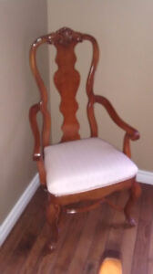 Dining Room Table with 12 Queen Anne Chairs from the Art Shoppe Oakville / Halton Region Toronto (GTA) image 1