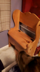 Small beautiful pine storage bench (price in discription OBO)