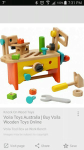 Viola Toys Wooden work bench with tools  (EUC)