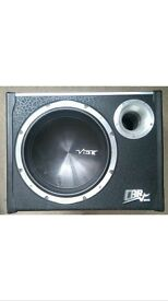 12 inch vibe CBR subwoofer with built in amp - 1600 watts