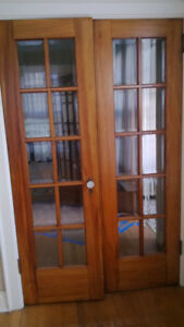 solid high quality french doors