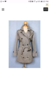 Burberry Trench Grey Size 4/6