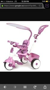 Little Tikes 4 in 1 Tricycle Pink like new,very clean-$30