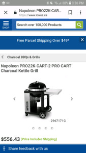 Napoleon charcoal bbq brand new in box