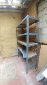Metal shelves unit