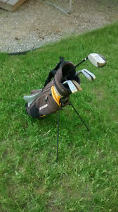 Junior golf clubs and bag